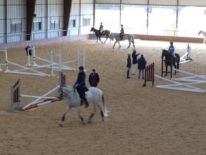 Indoor riding arena at Whispering Farms Equestrian Center - Prosper Texas