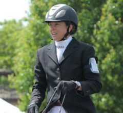 Eventing and Dressage trainer Laura McEvoy in show attire. For training and lessons.